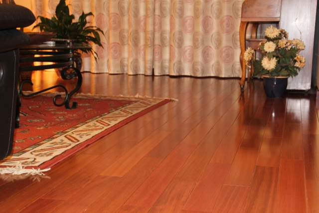 "Brazilian Cherry Solid Floor Natural 5-1/2""x3/4"""
