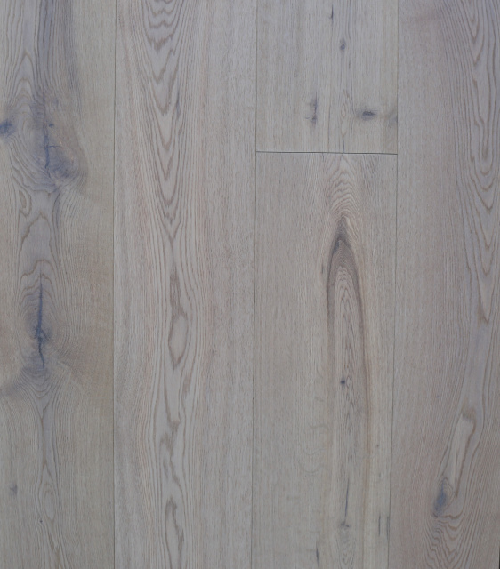 "Oak Rustic Brushed White Lacquer 7.484""x74"""